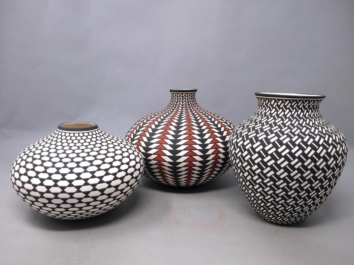 Pottery by Paula Estevan of the Acoma Pueblo