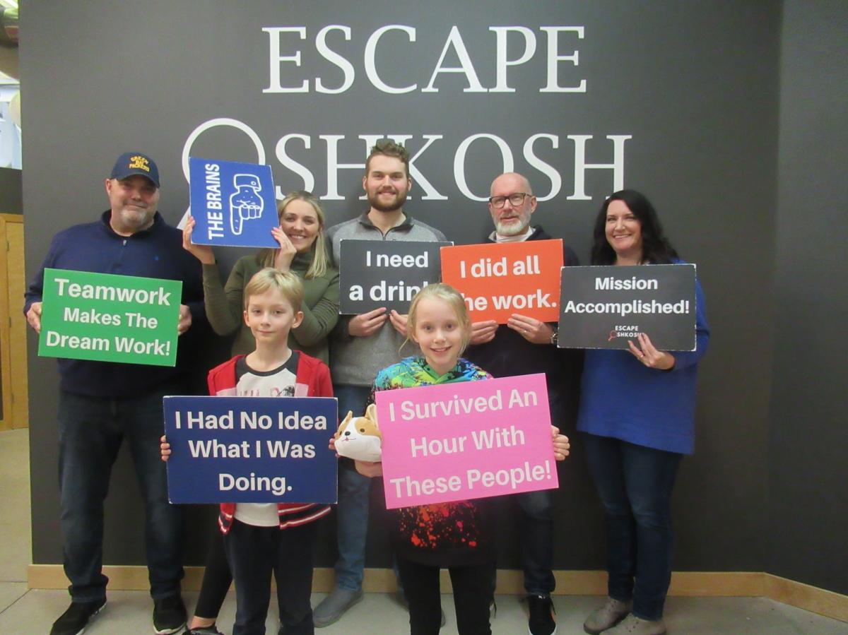 Winners at Escape Oshkosh