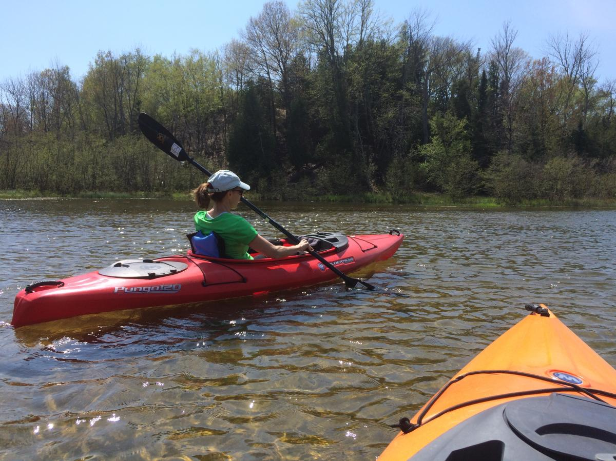 Kayaking on the Platte River