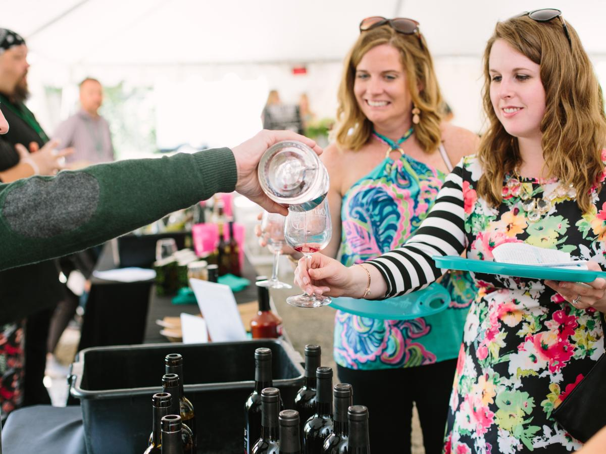 Women at the Wilmington Wine and Food Festival