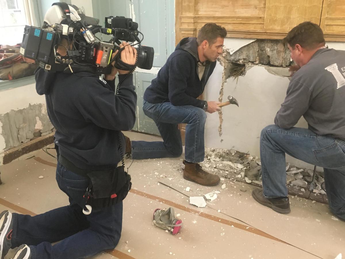 Jeff Devlin and camera crew