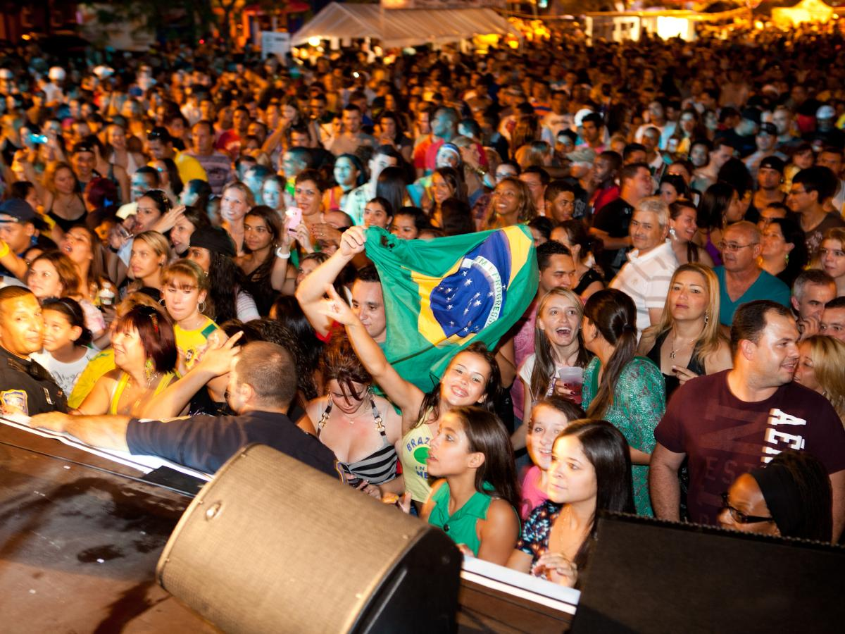 Crowds a Brazilian Day Festival in Newark, NJ