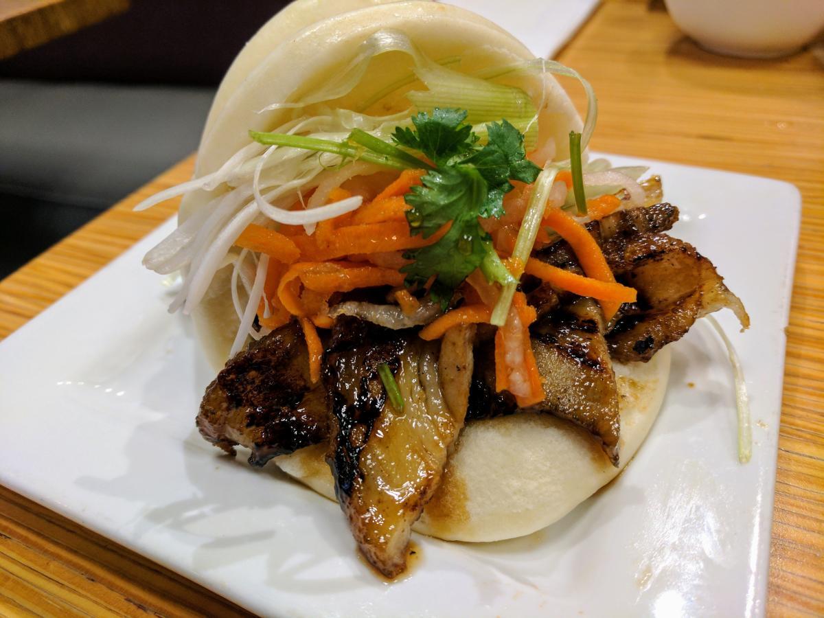 Sweet Basil Pork Belly Bun Bao