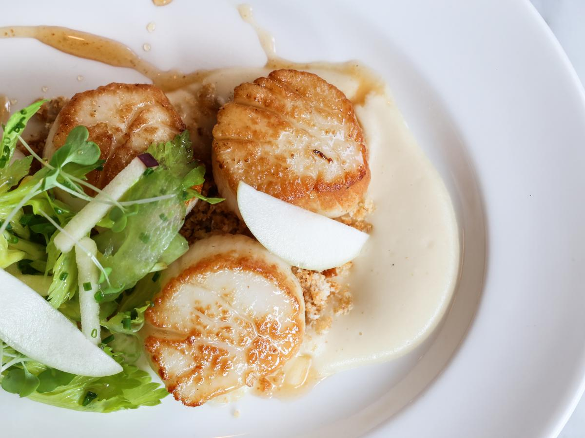 Cafe Robey seared scallops