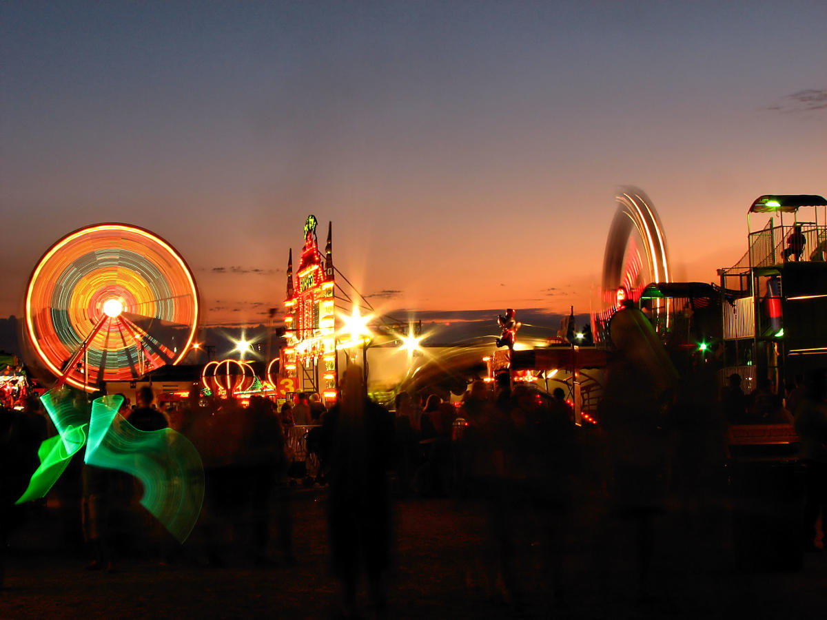 Olmsted County Fair Rides at Night