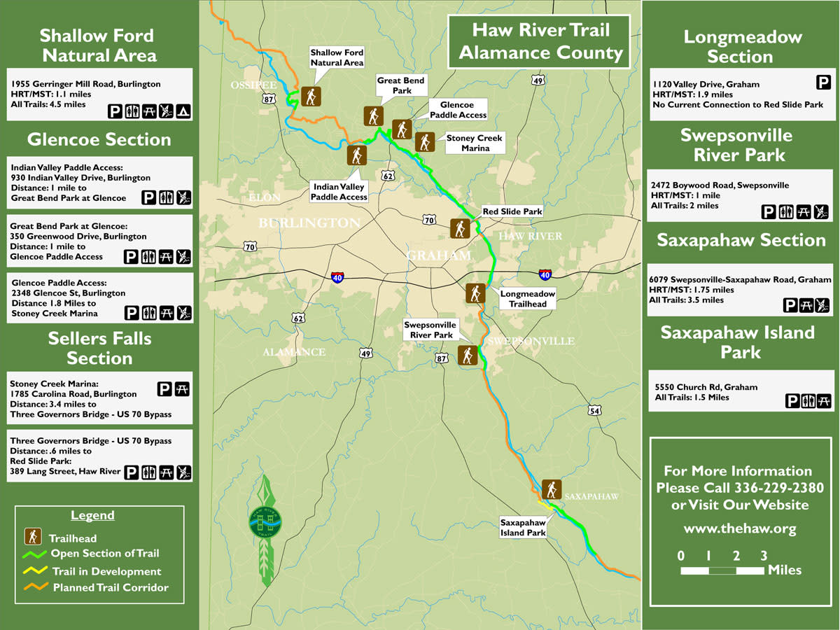 Haw River Land Trail Map-2017