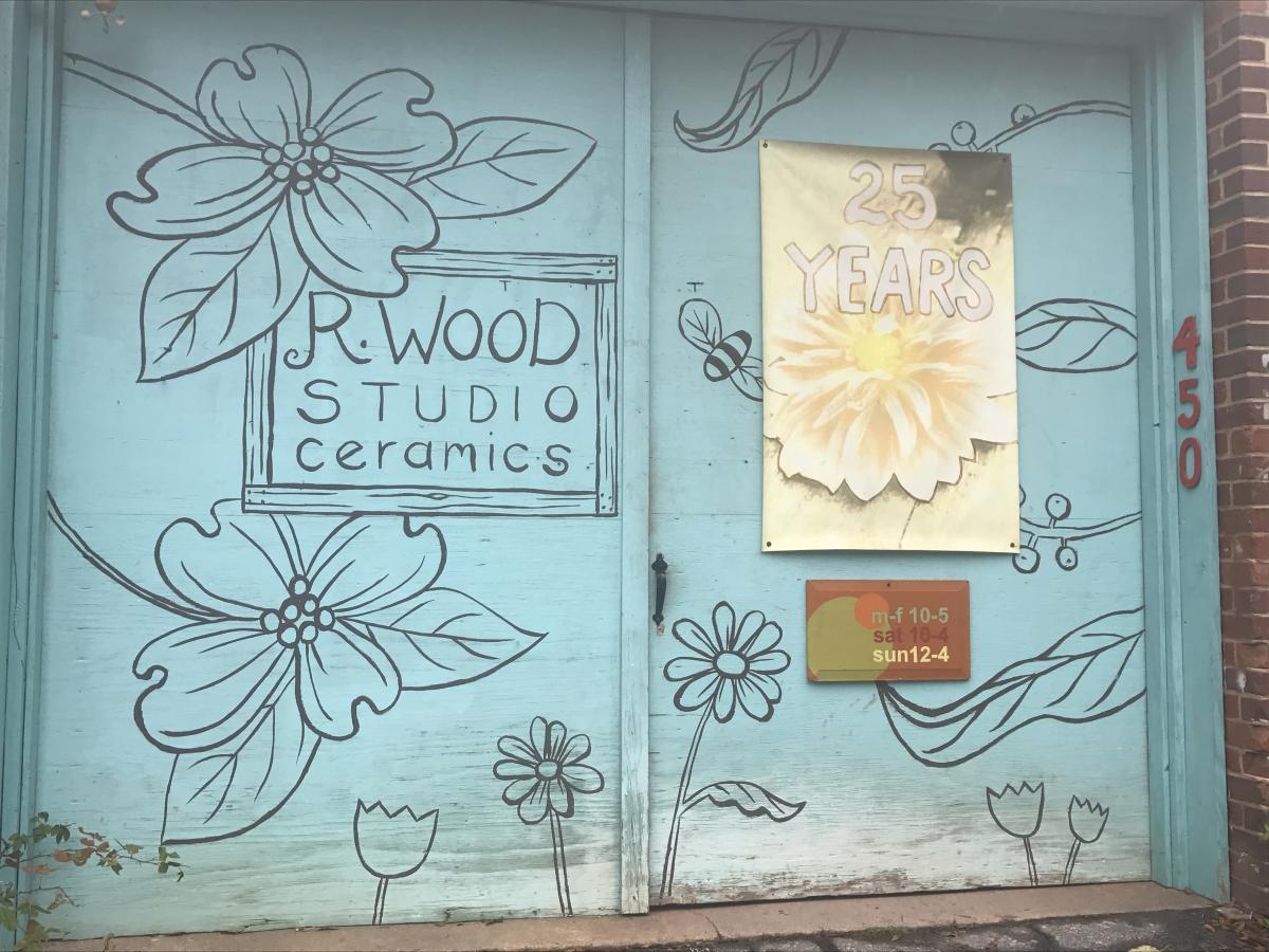 R.Wood Studios door
