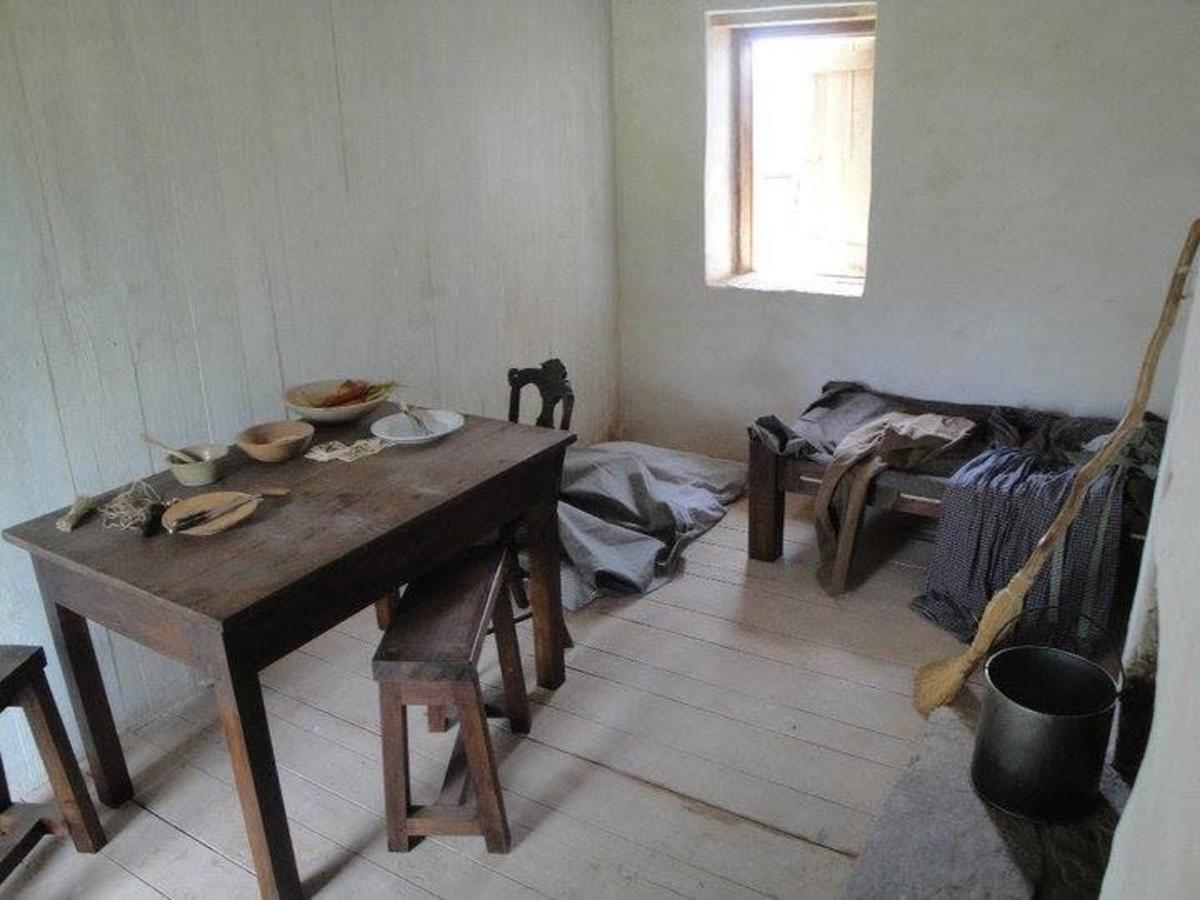 Interior view of the Ben Lomond Slave Quarter