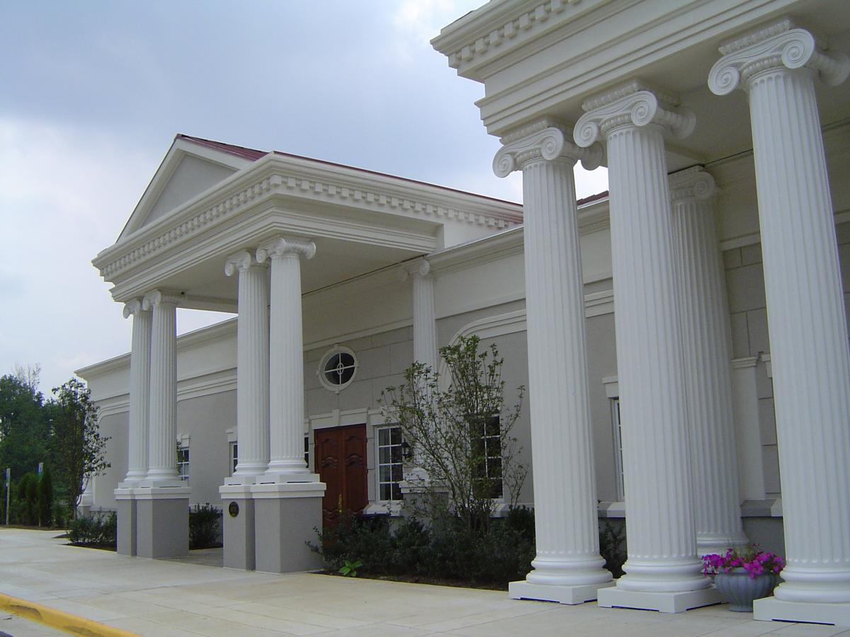 White building with columns
