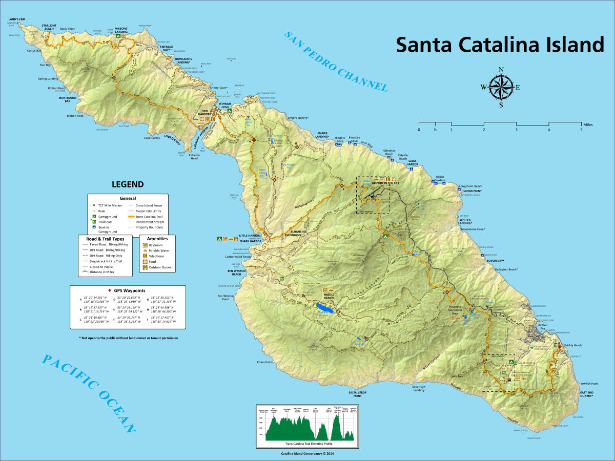 Catalina Island Trail Map