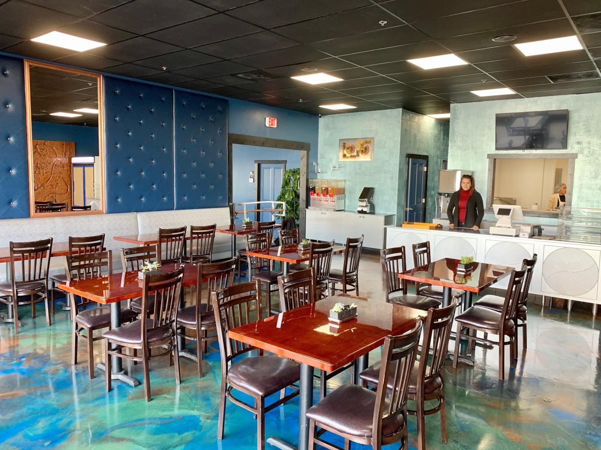 Chairs and tables at the Manna Kitchen