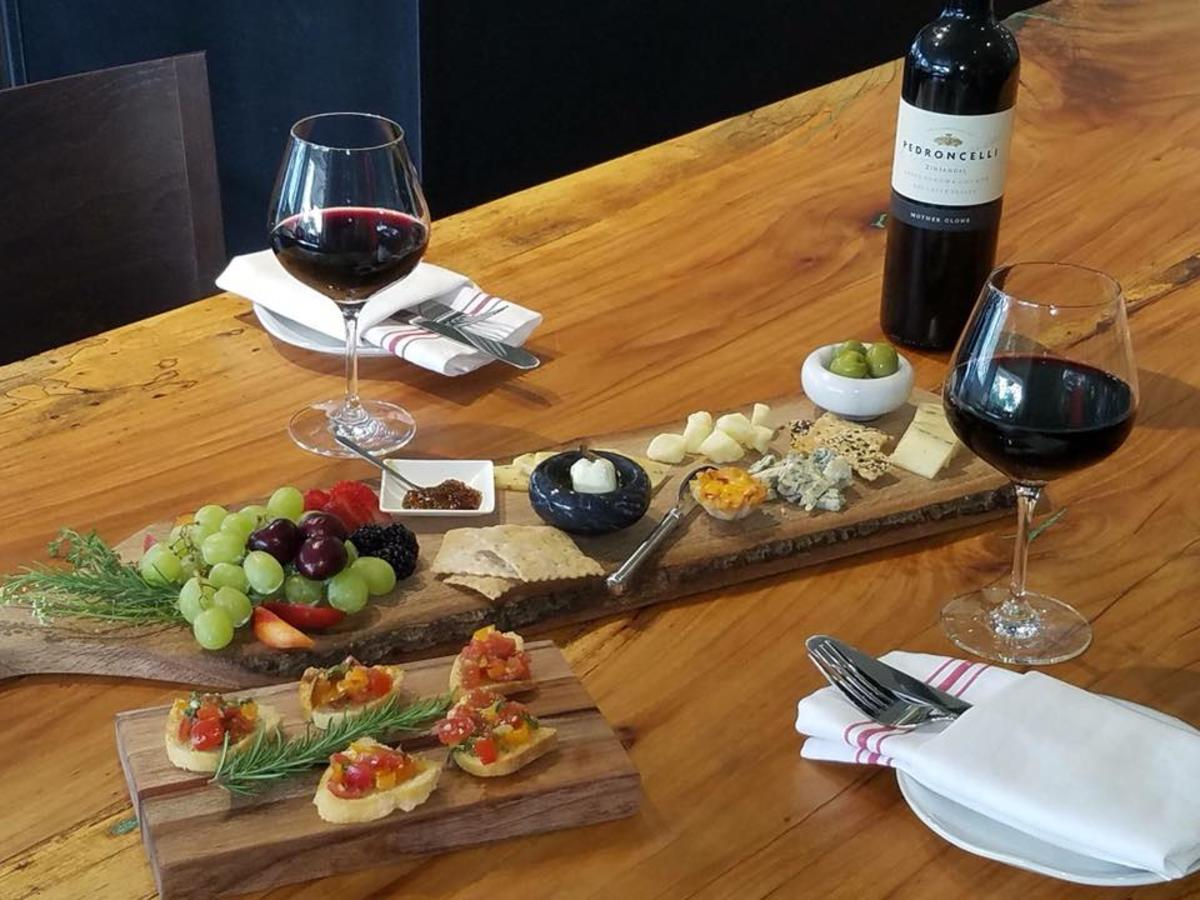 Charcuterie boards and wine pairings at Golden Isles Olive Oil on St. Simons Island, GA