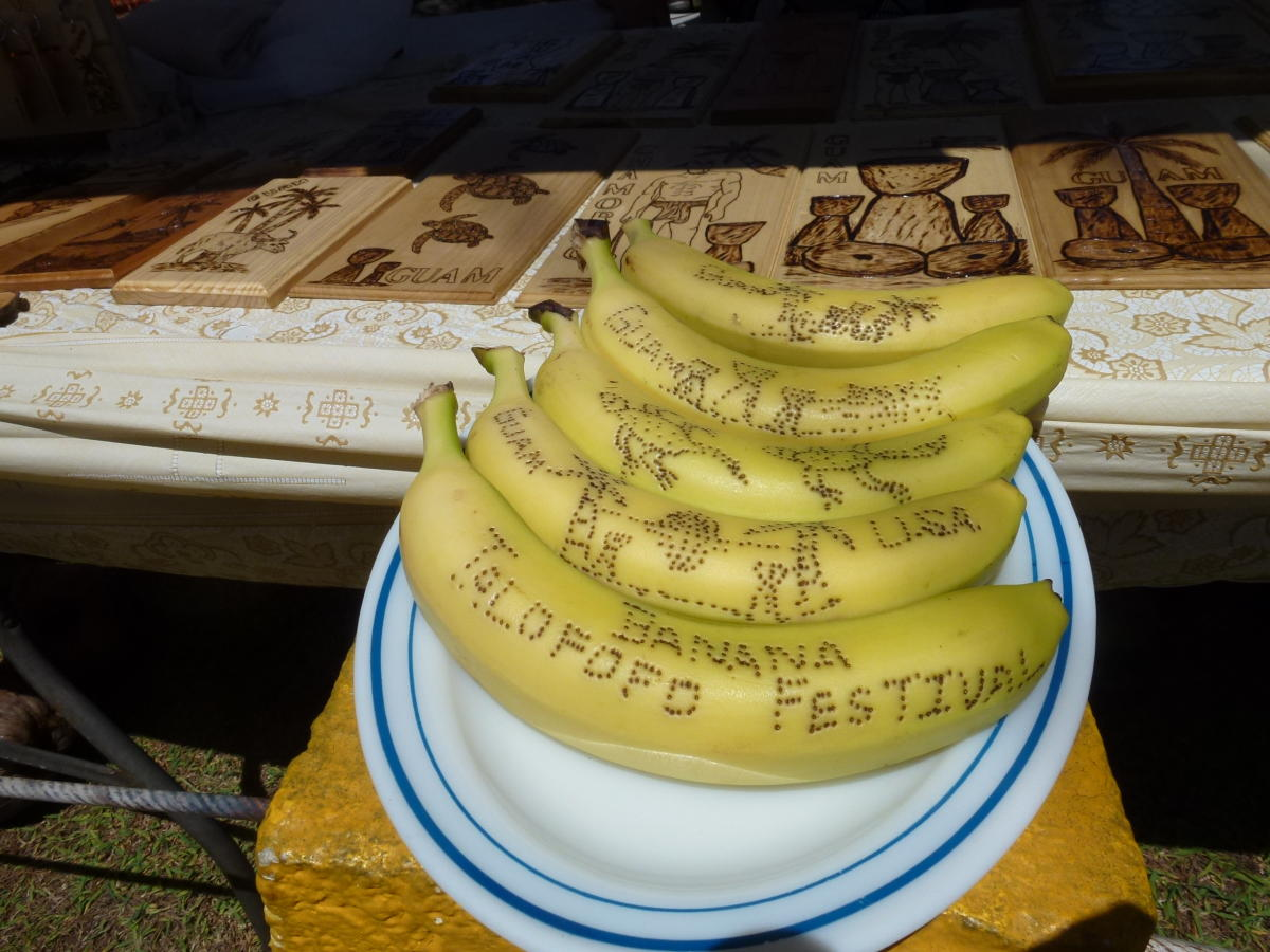 Editable art at the Talofofo Banana Festival