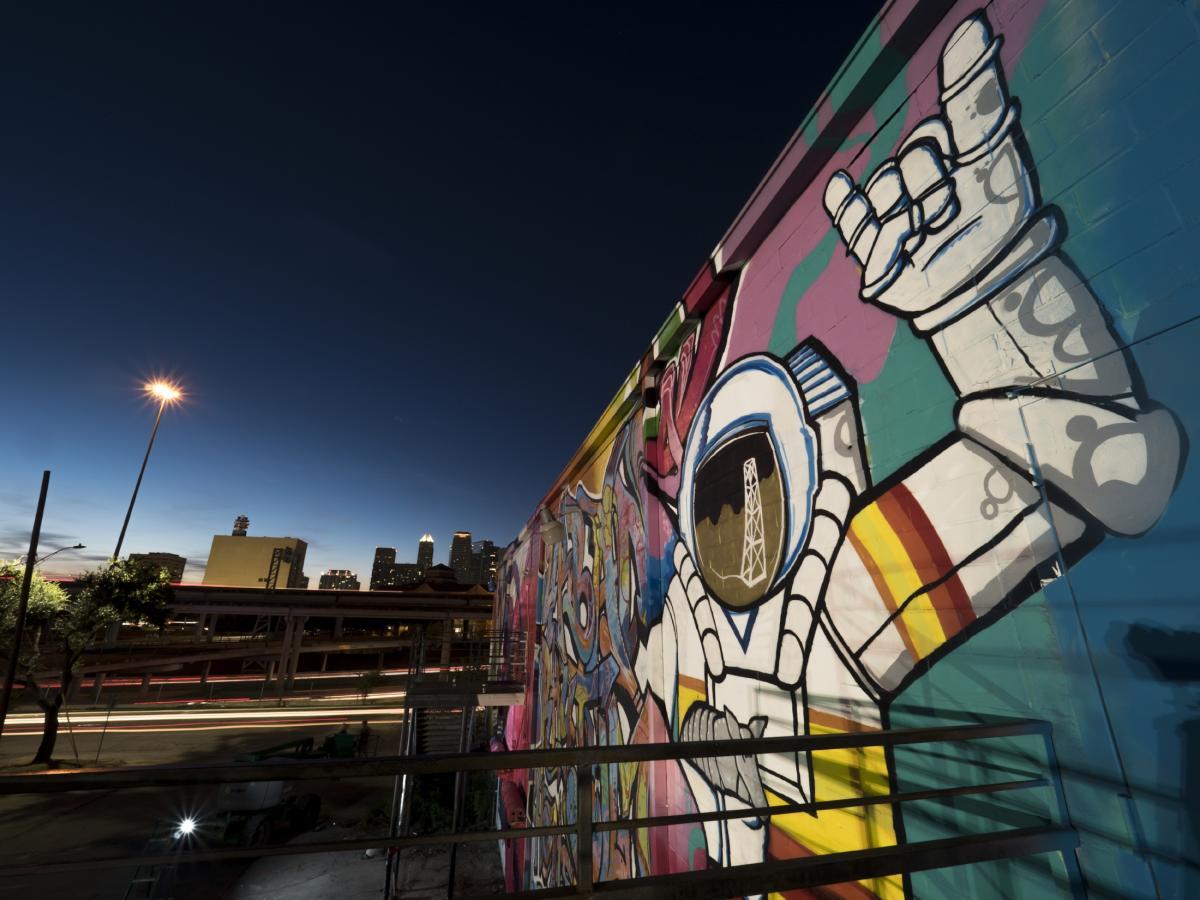 HUE Mural Astronaut