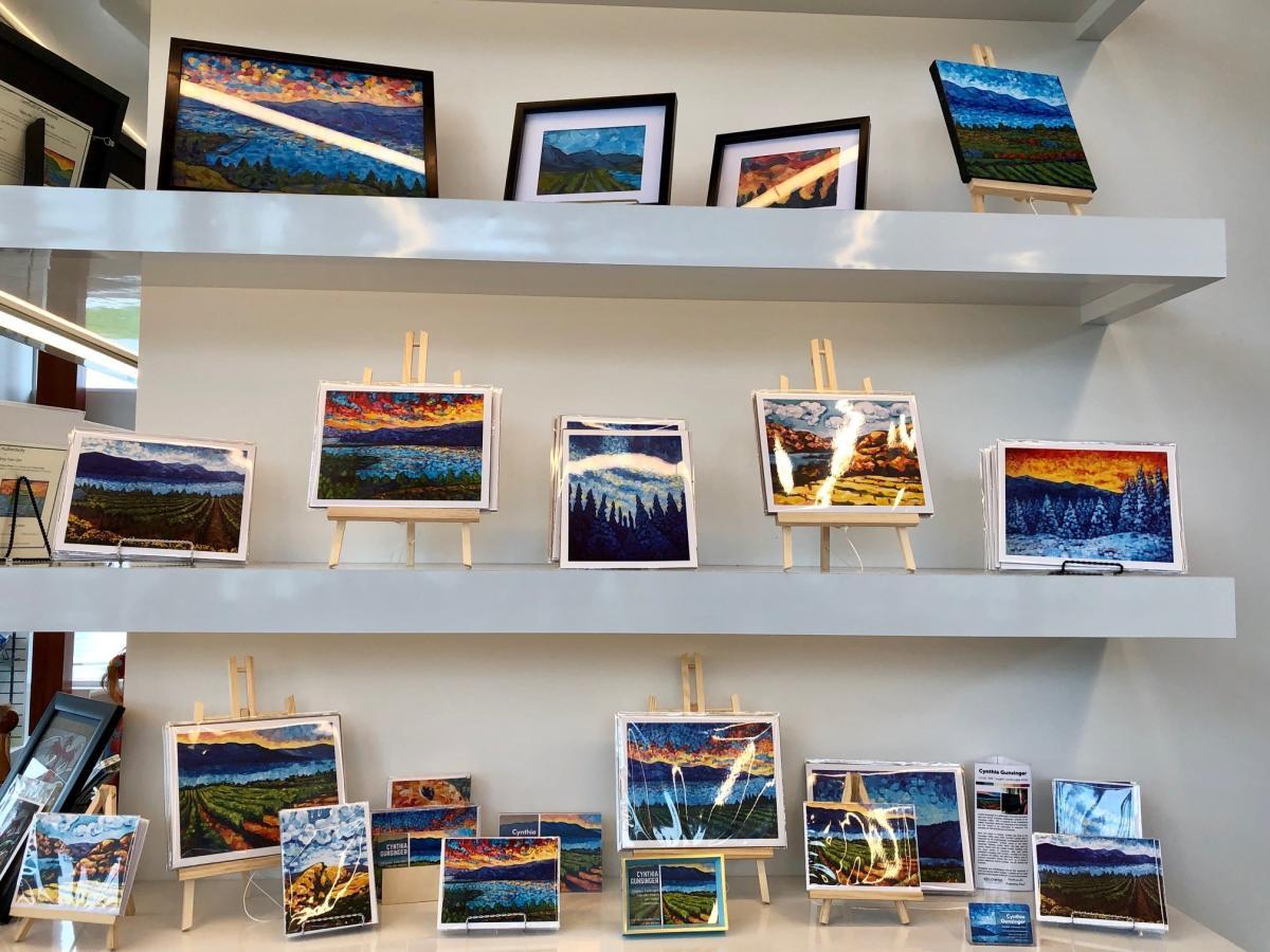 Cynthia Gunsinger Art Display