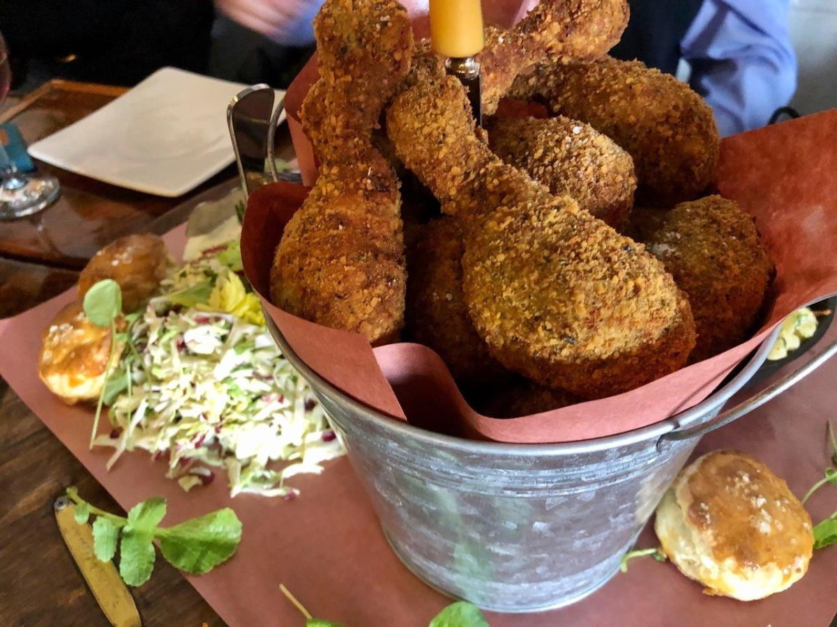 Fried Chicken platter at Provisions at Kettle River Brewing