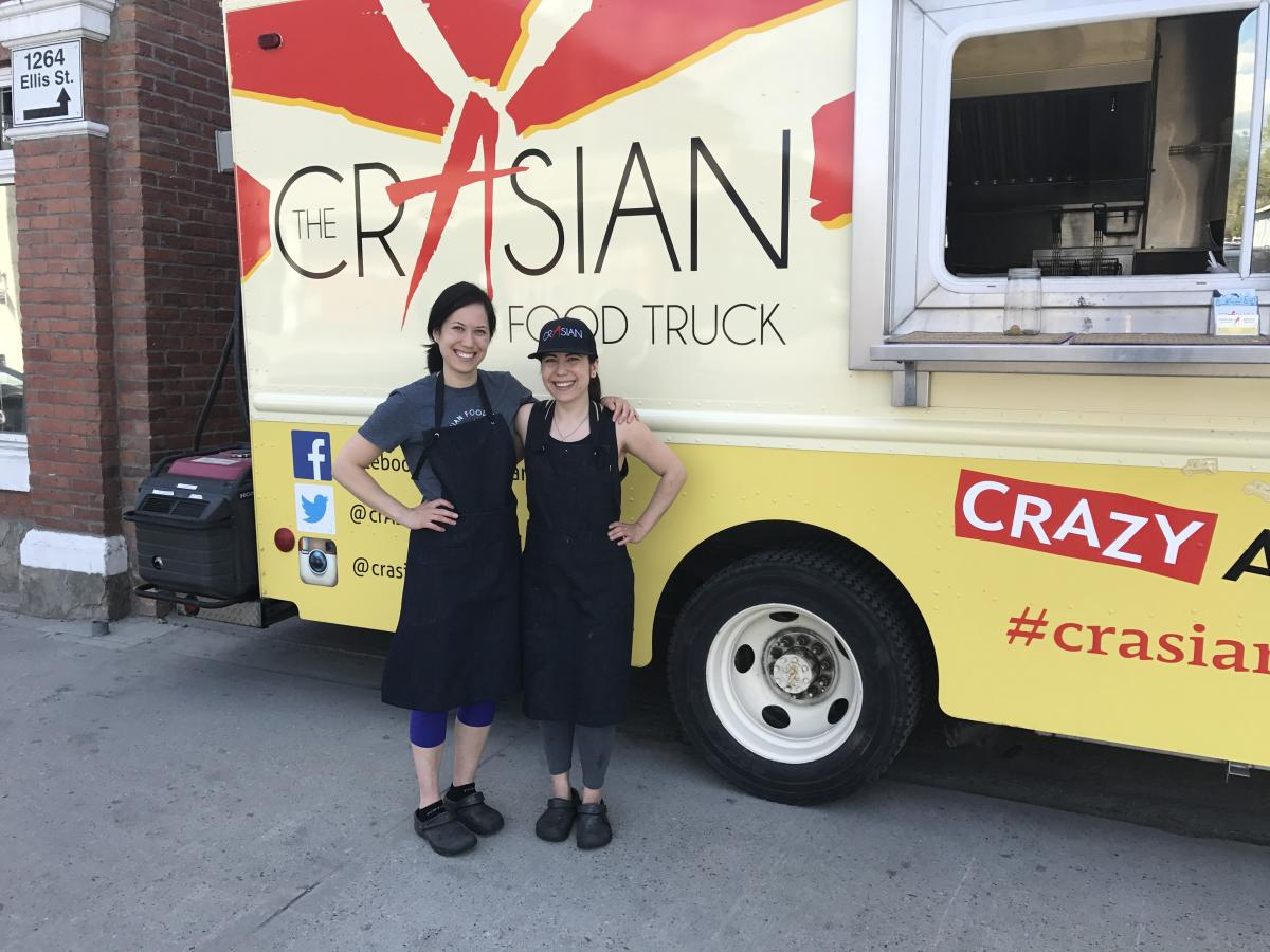 Courtney and Meiko Koga of CrAsian Food Truck & BoxcAr Restaurant