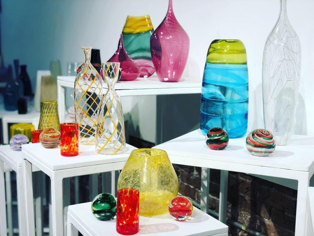 Glass gallery at Pretentious Glass Co.