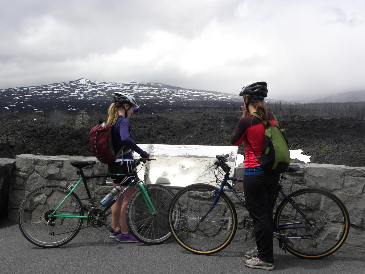 McKenzie Pass Cycling, Scenic Lookout by Molly Blancett