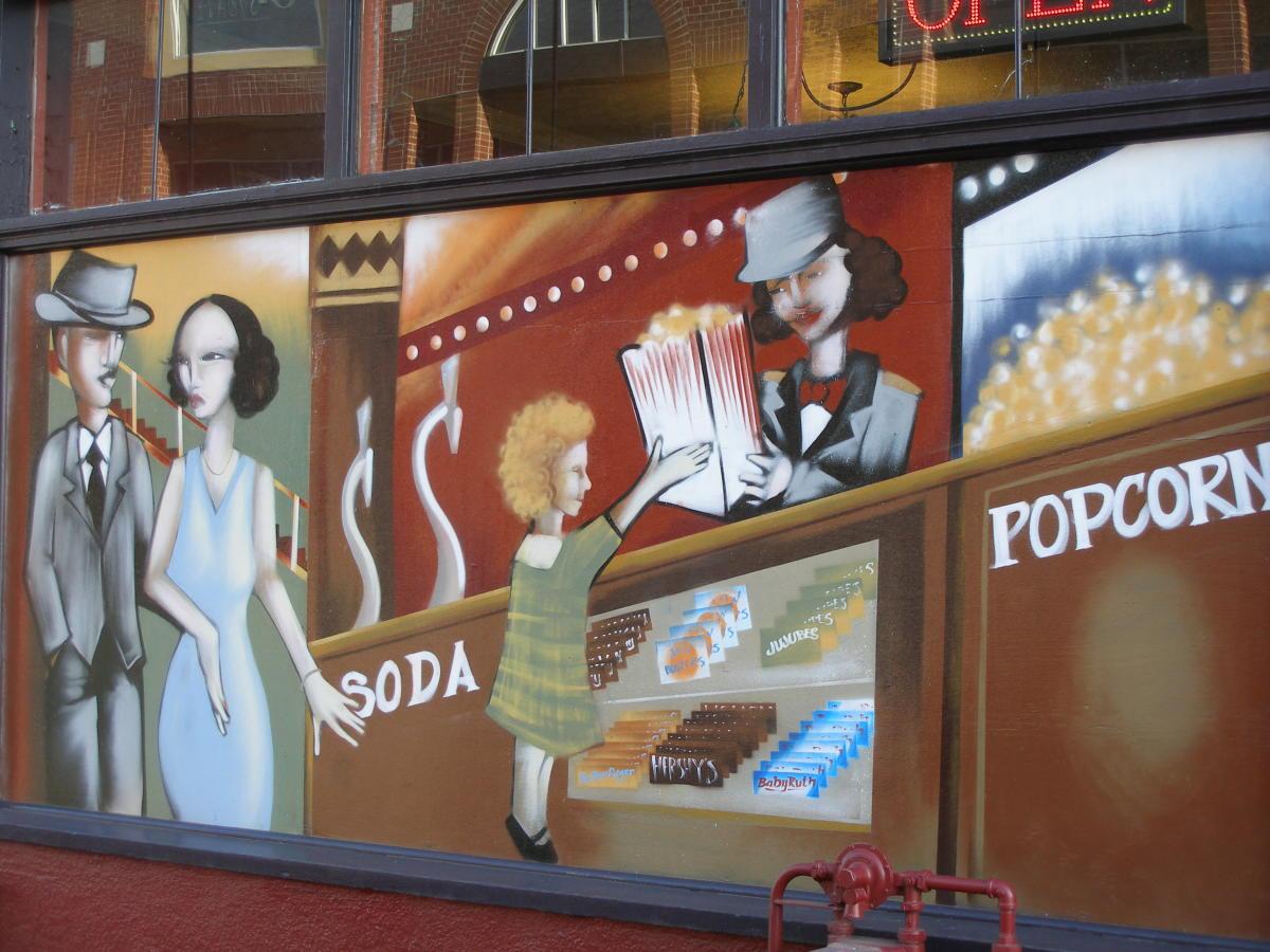 Mural at David Minor Theater