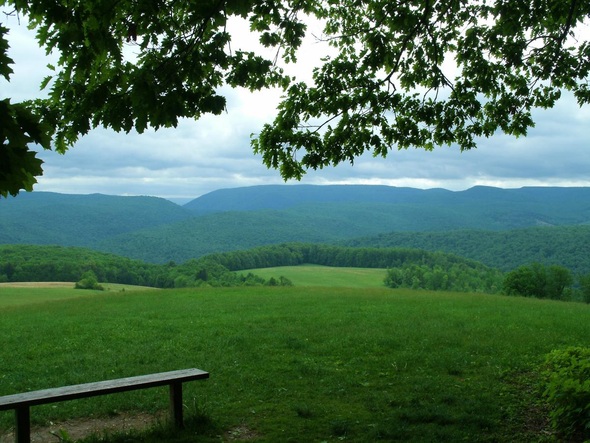 A View From the Overlook at Kentuck Knob