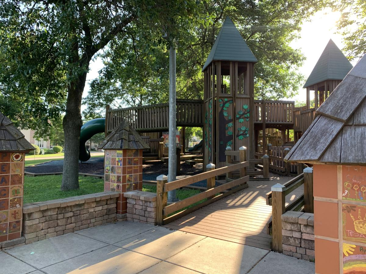 Entrance to the Sun Prairie Dream Park playground