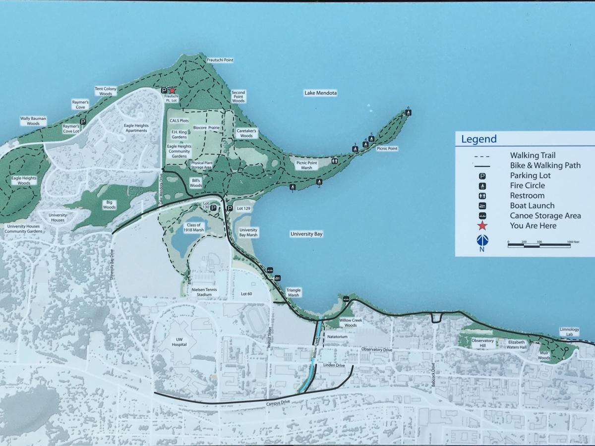 Map of Picnic Point and Lakeshore Preserve