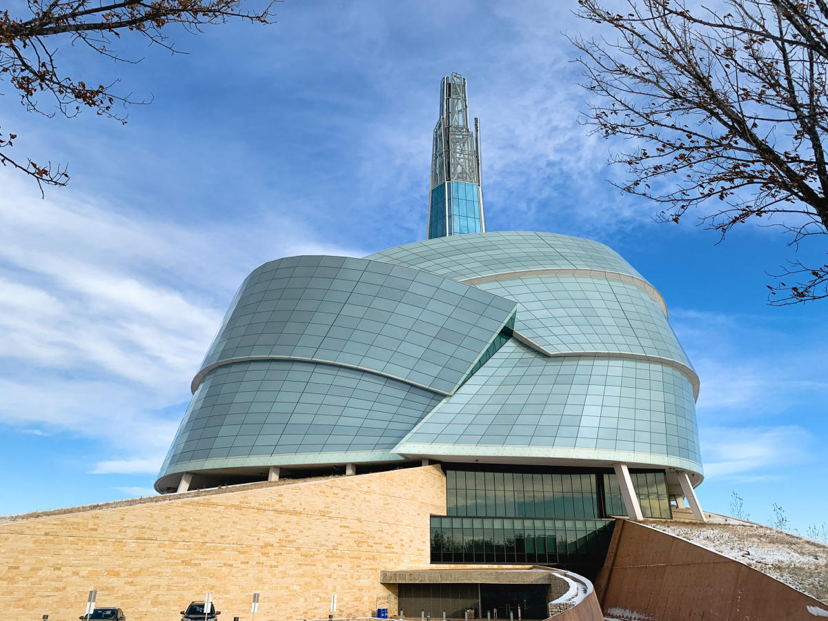 Exterior of the Canadian Museum for Human Rights