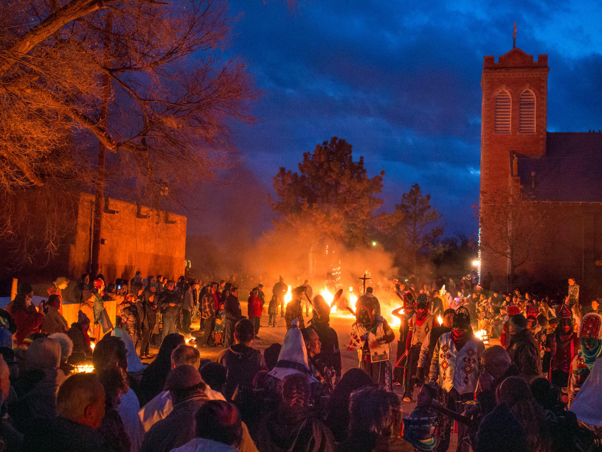 First Place: Details, Ohkay Owingeh Pueblo Los Matachines and Pine by Norman Doggett