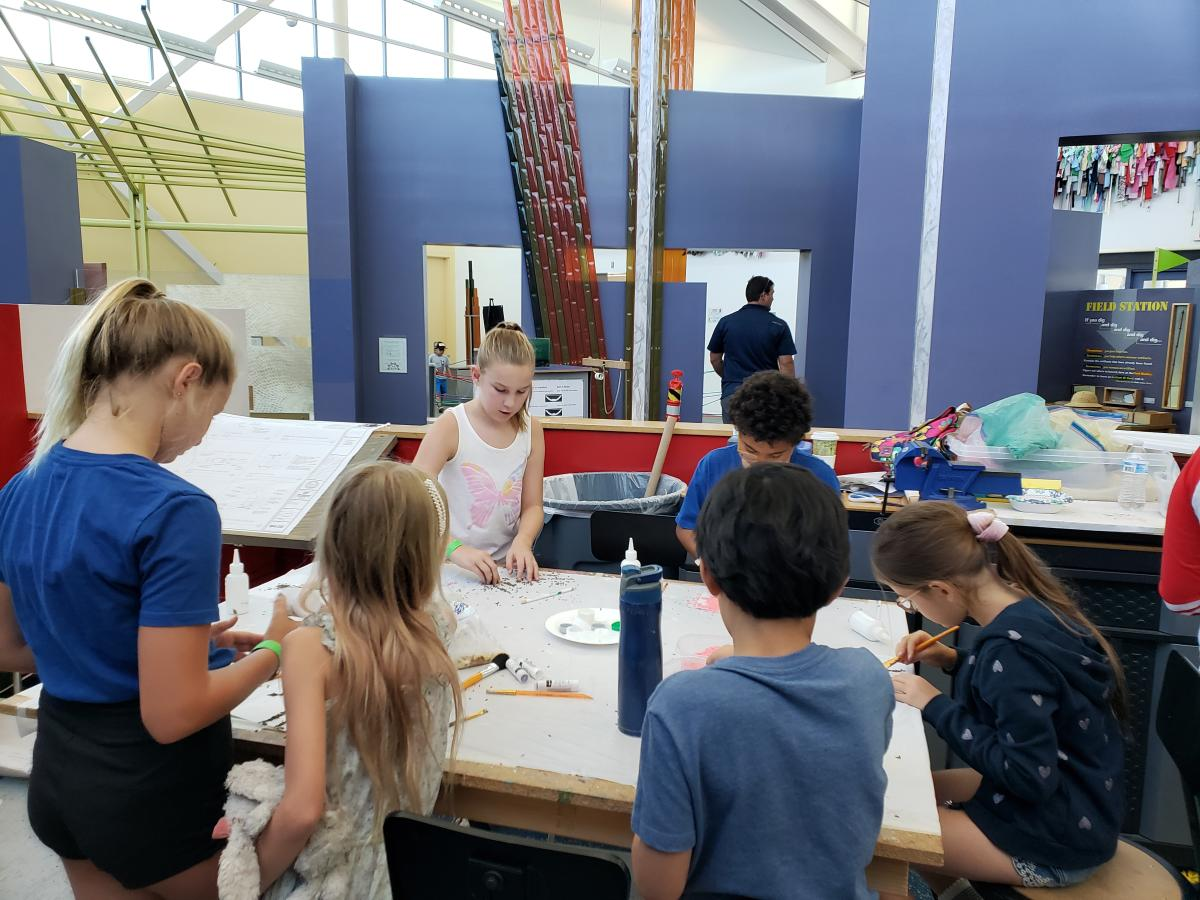 Children participate in an activity at Children's Discovery Museum of the Desert.