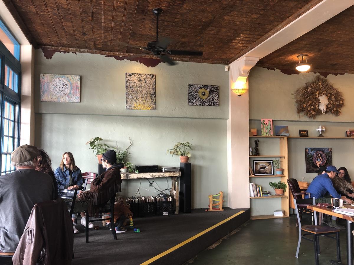 The interior of Frontier Café in Yucca Valley.