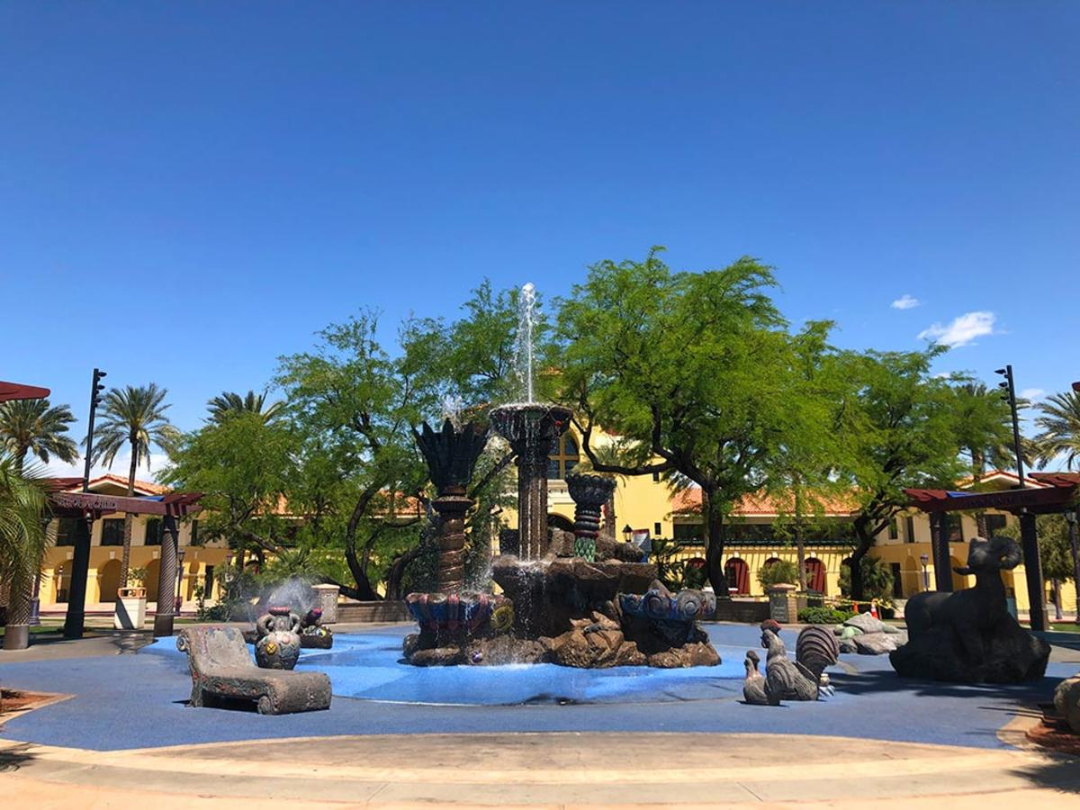 Fountain of life in Cathedral City