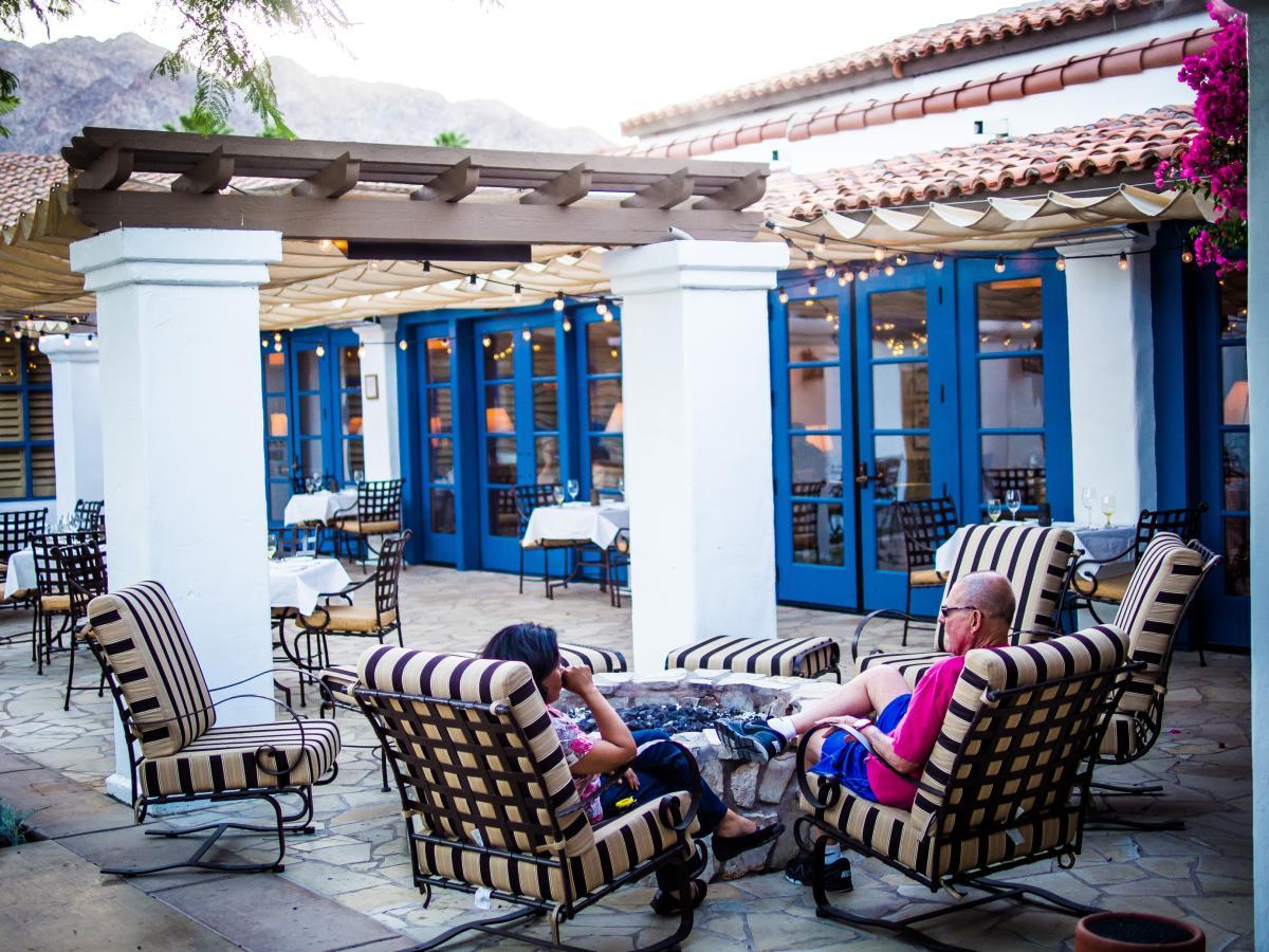 Outdoor patio at La Quinta Resort