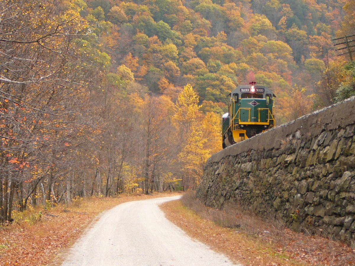 Take a fall foliage train excursion