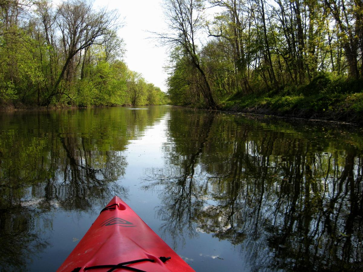kayaking on the DR canal near Princeton, NJ.