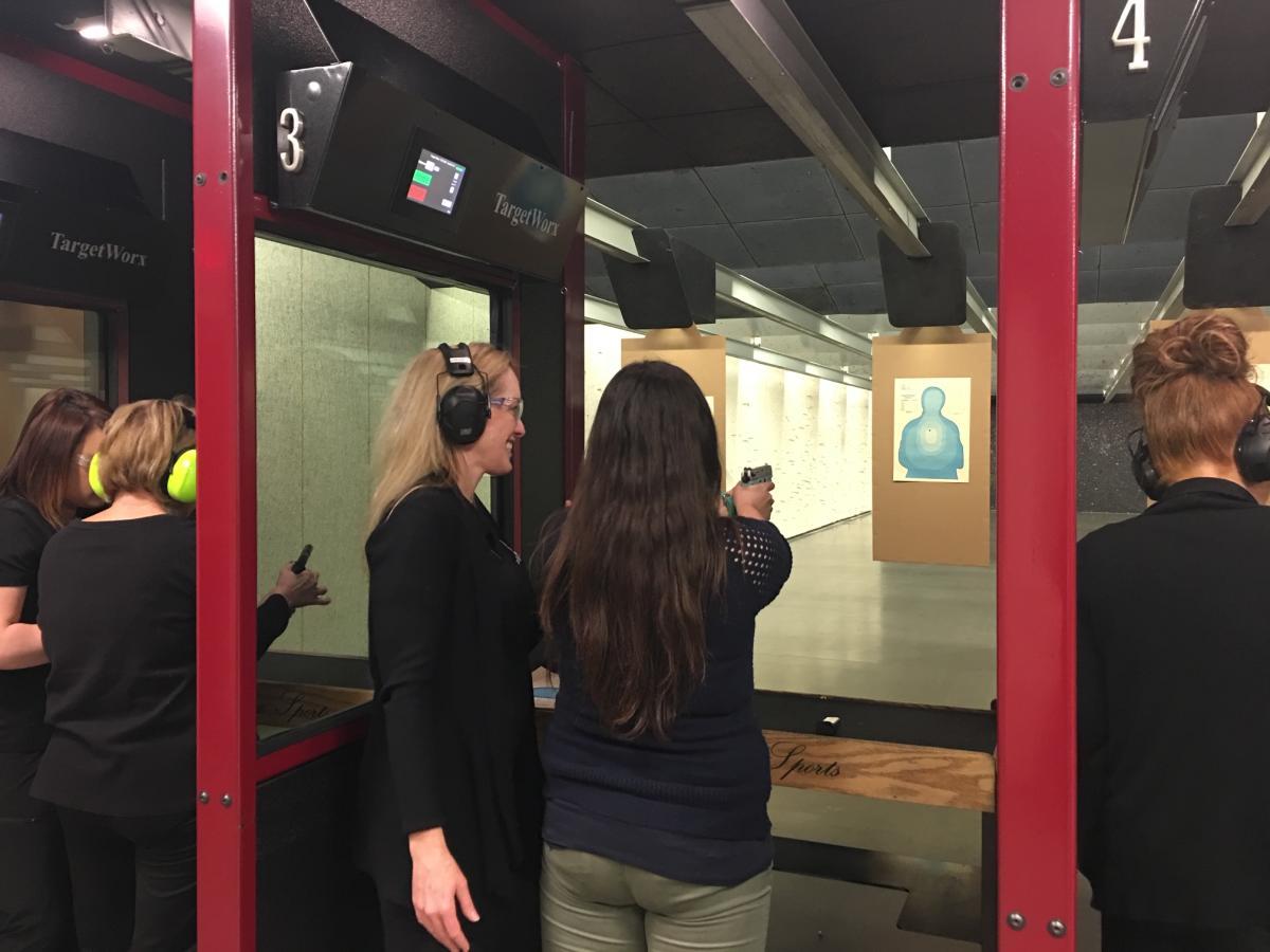 Women shooting at Elite Shooting Sports firing range