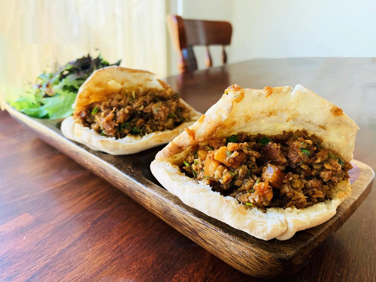 Pork Belly Pitas by The Grille