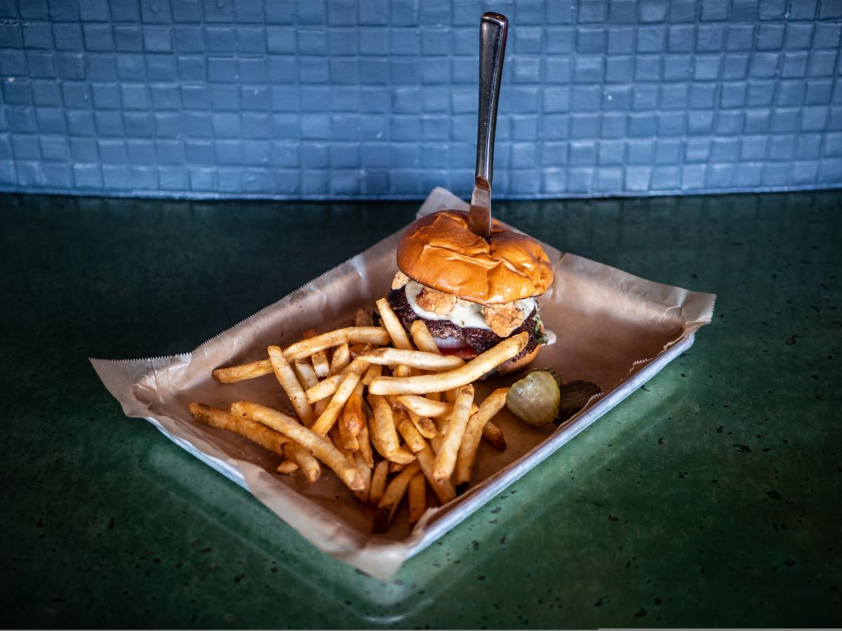 The Classic Burger at Hot Chip Burger Bar in Rochester, MN