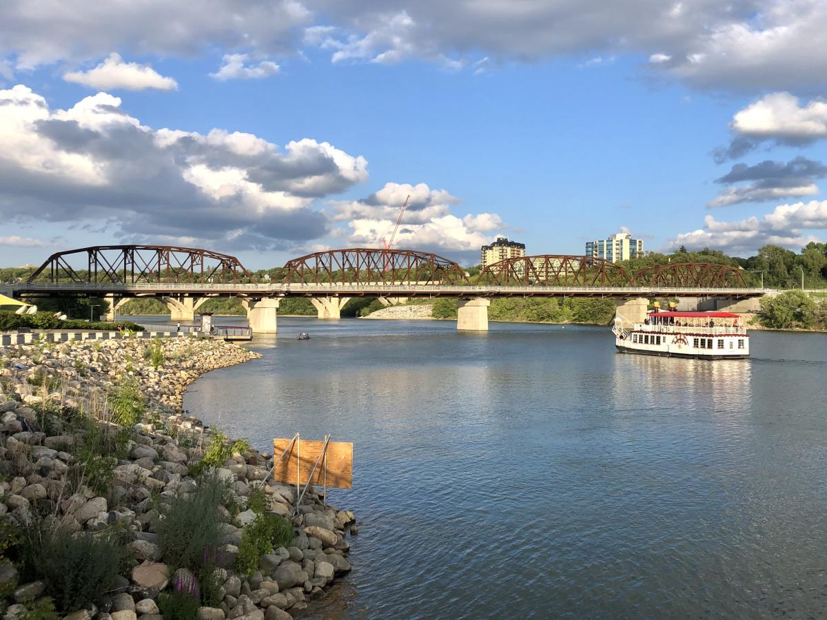 Victoria Bridge in Saskatoon