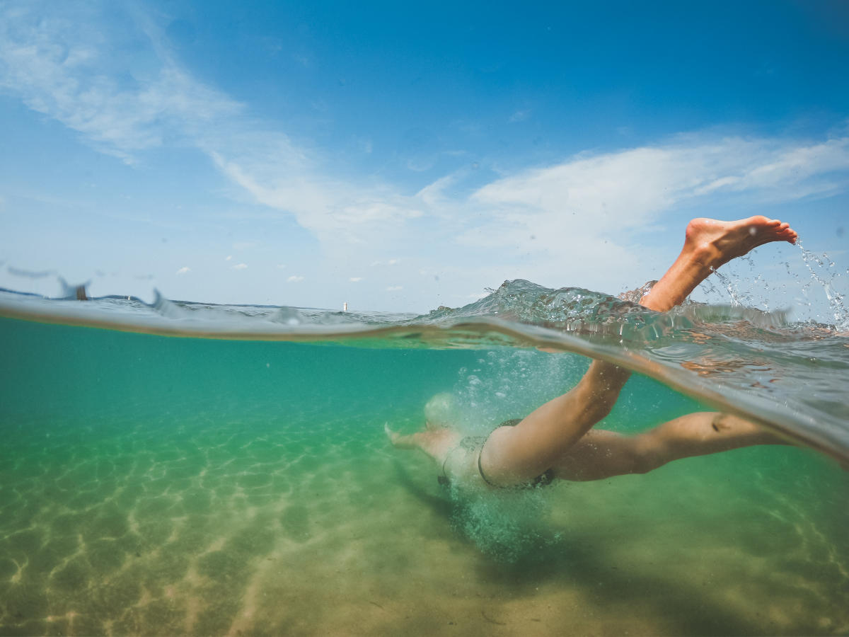 Swimming in West Bay