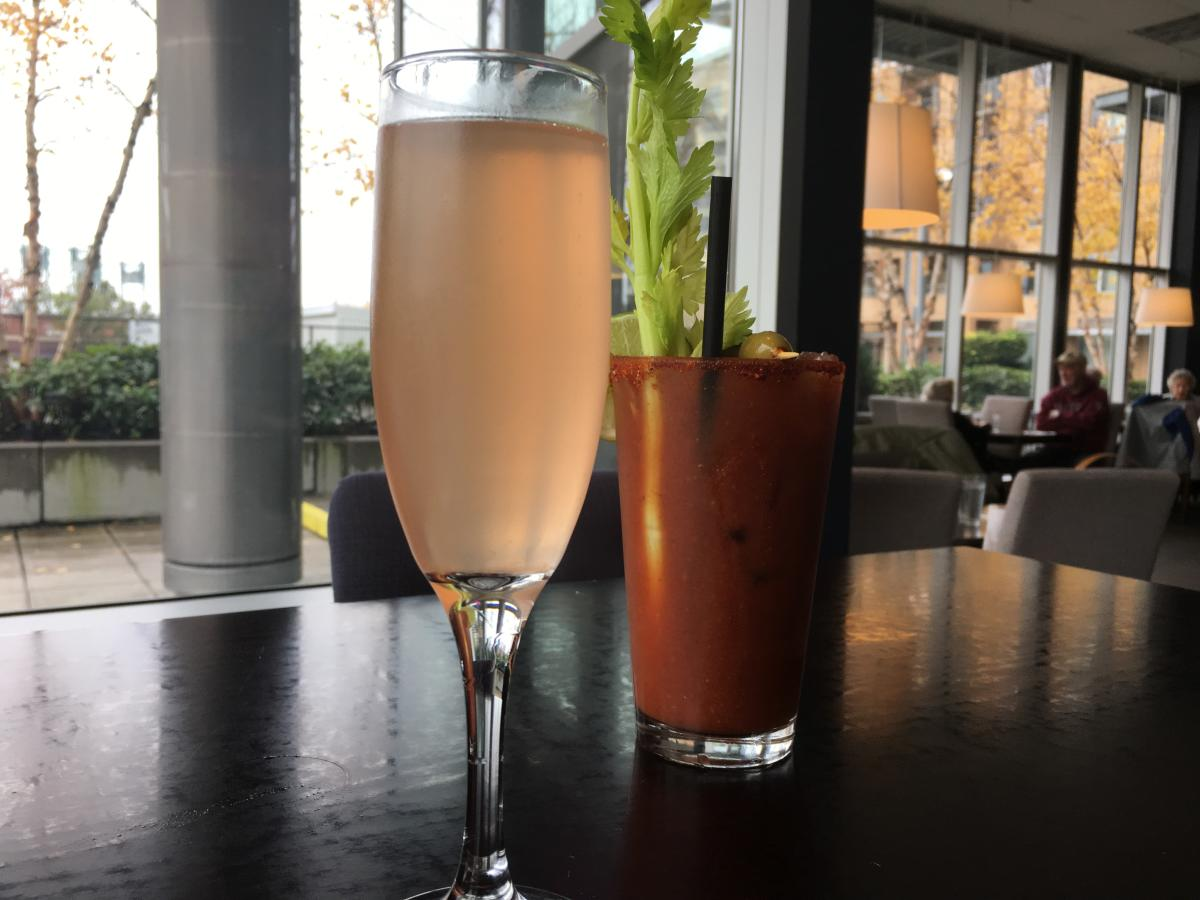 Mimosa and Bloody Mary at LUXE