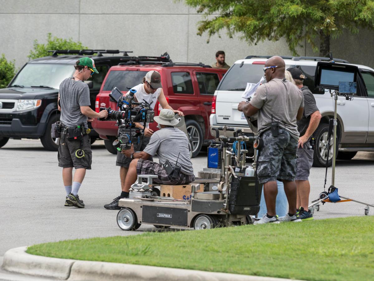 4x3 general film crew shot