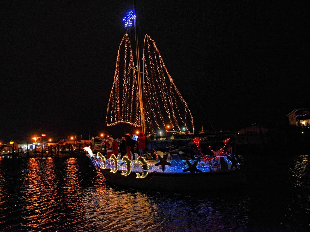 Island of Lights Sailboat Flotilla