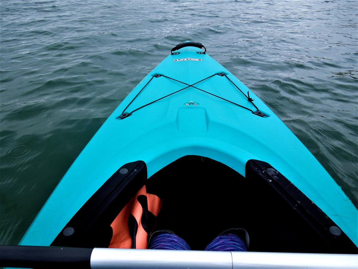 Blue kayak in Bucks County