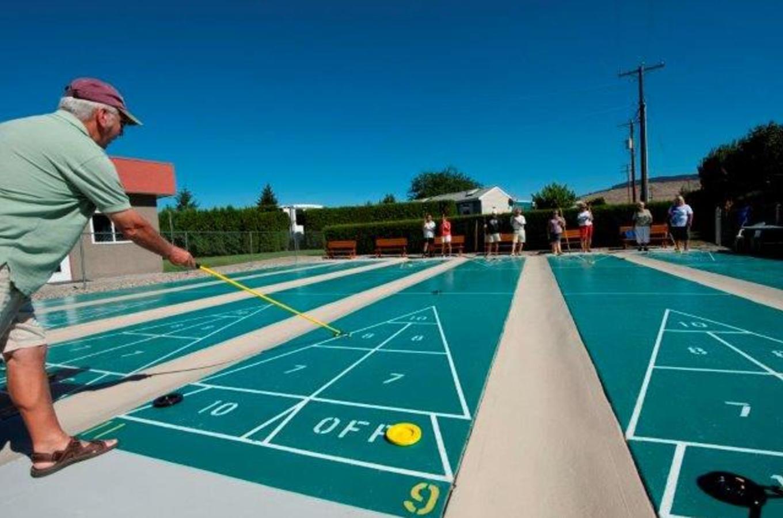 Holiday Park Resort shuffleboard court