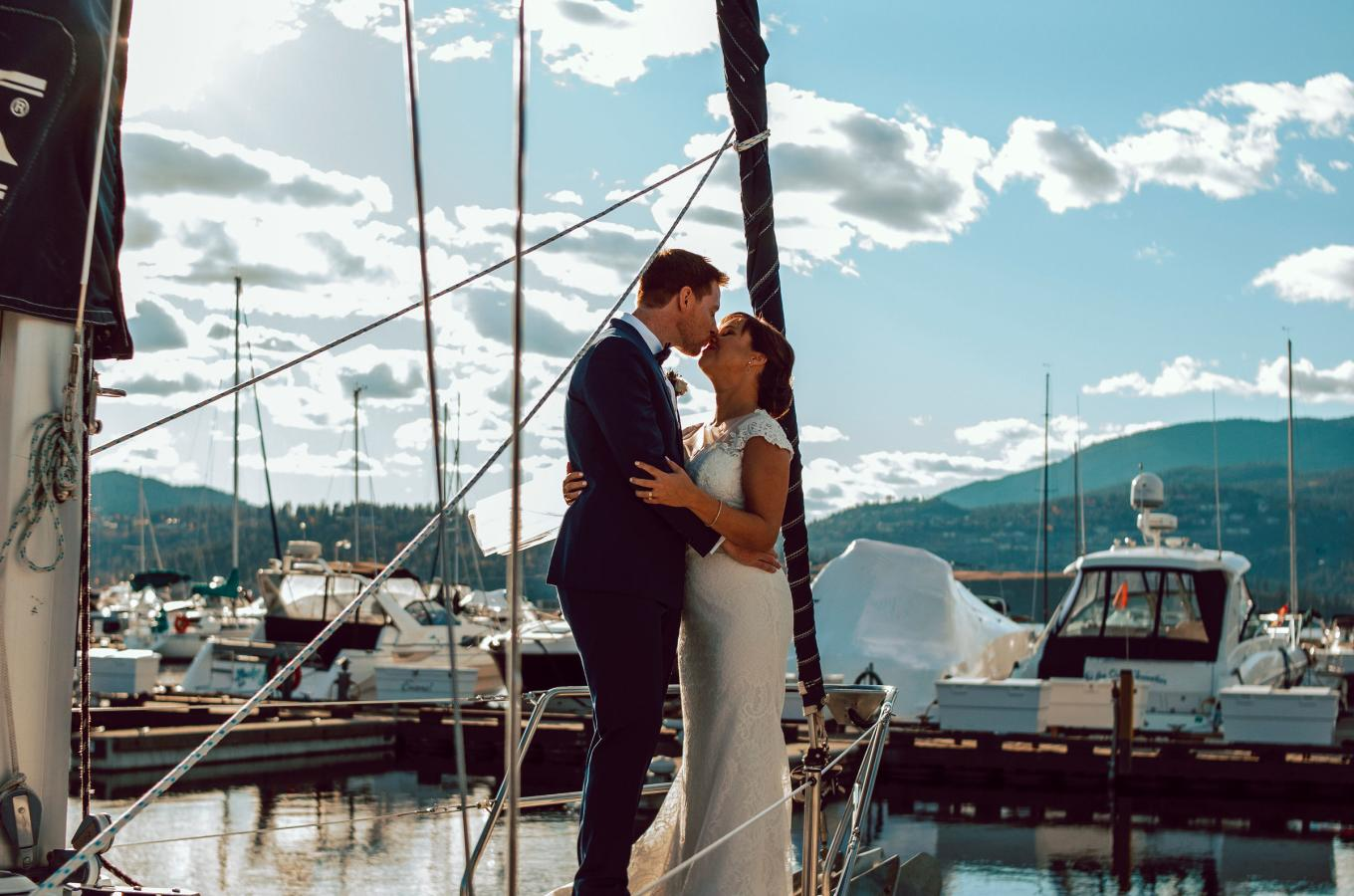 Wedding Couple on Boat
