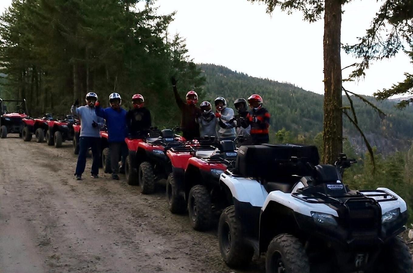 Okanagan ATV Tours having fun in the fall