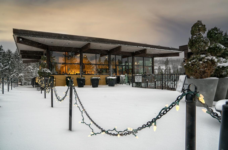 Wine Shop Side Winter