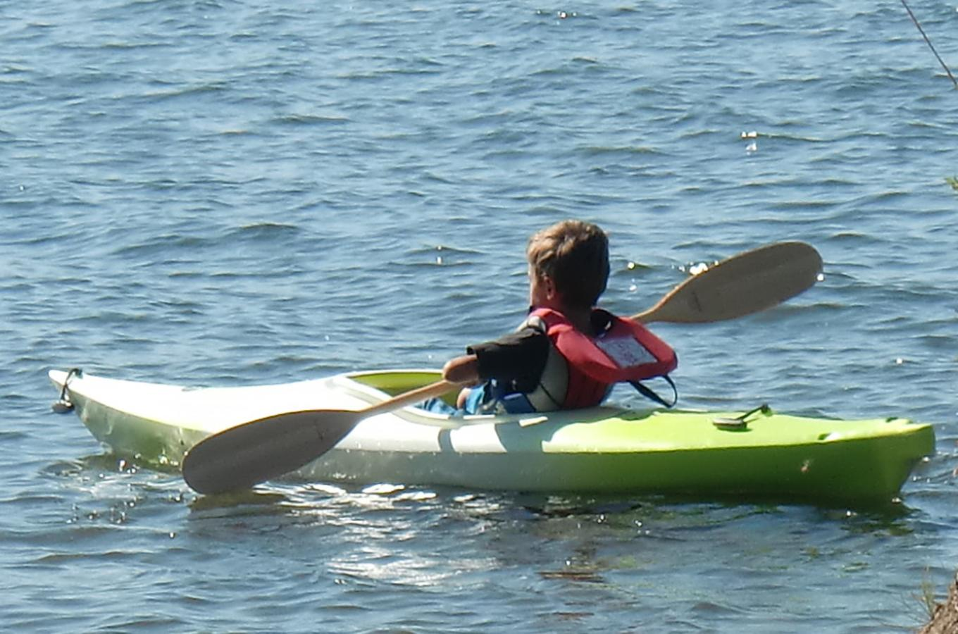 Boy in Kayak