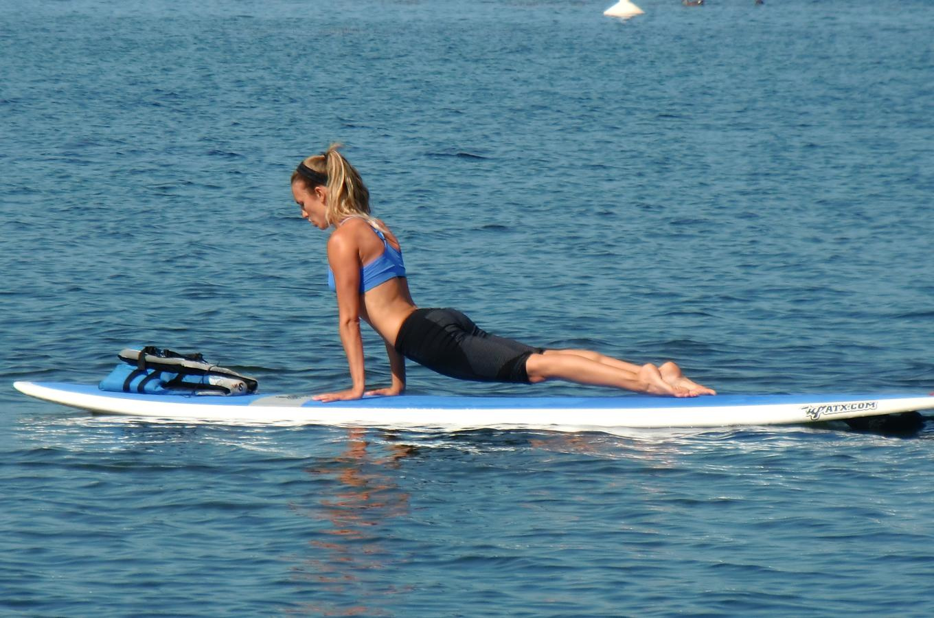 Workout on SUP